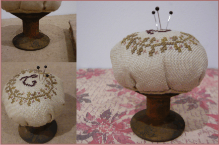 BBD monogram pincushion